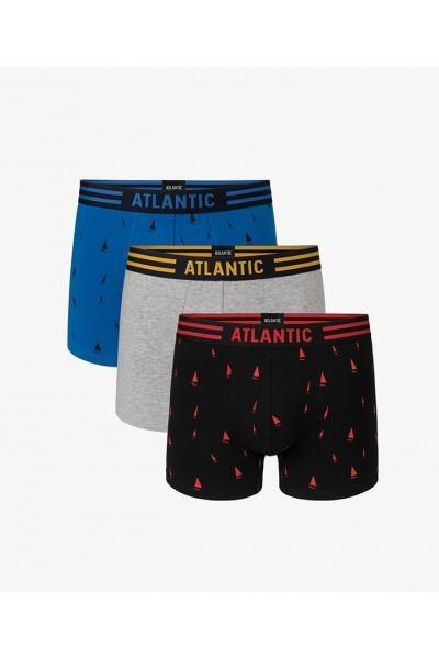 Трусы мужские шорты ATLANTIC 3MH-011(3шт.) - LeConfort