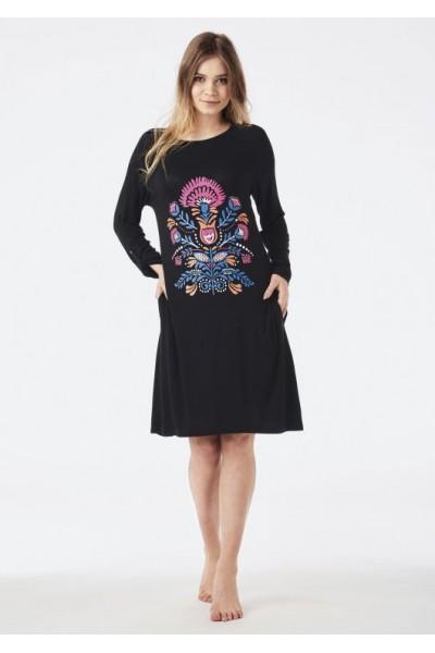 Домашняя рубашка женская KEY LHD-585 B8