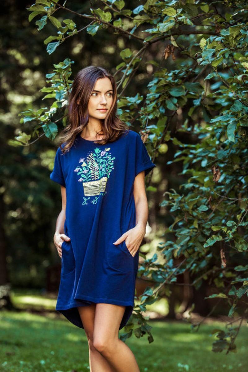 Домашняя рубашка женская KEY LHD-055 A8
