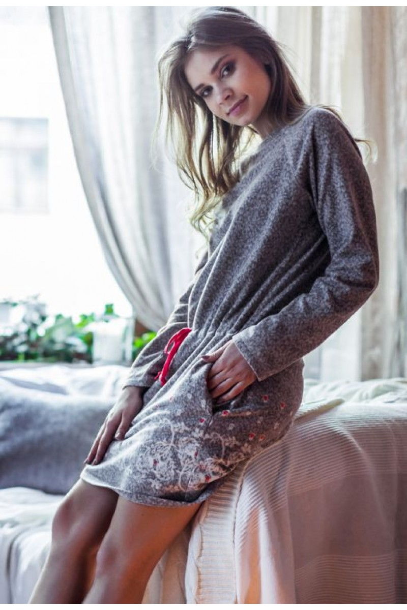 Домашняя рубашка женская KEY LHD-088 B7