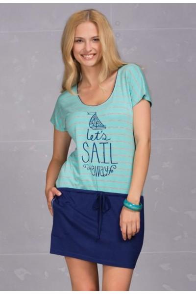 Домашняя рубашка женская KEY LHD-312 A6