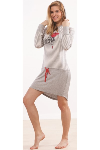 Домашняя рубашка женская KEY LHD-370 B4