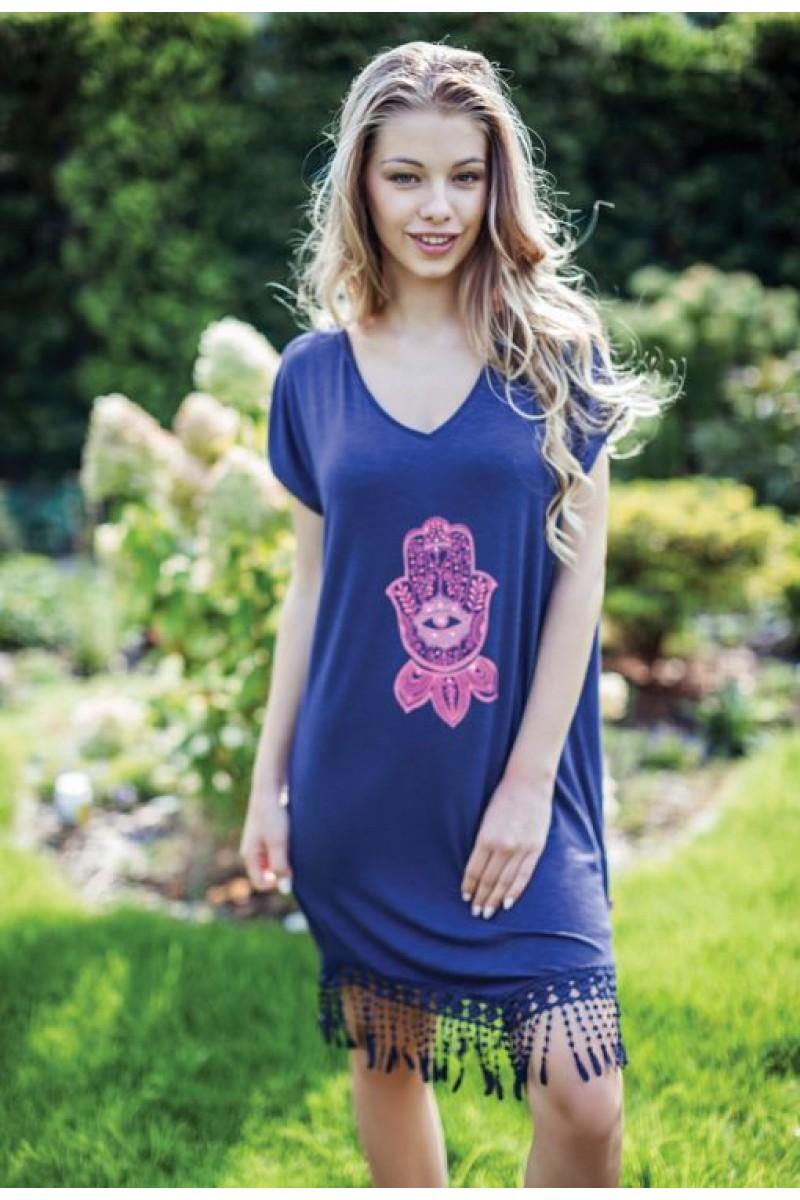 Домашняя рубашка женская KEY LHD-884 A7