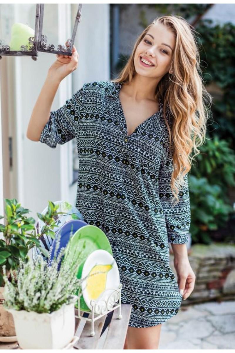 Домашняя рубашка женская KEY LHD-898 A7