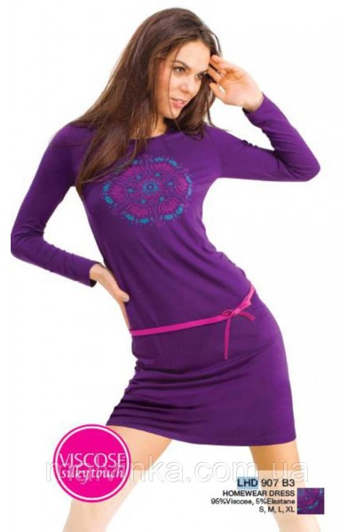 Домашняя рубашка женская KEY LHD-907 B3