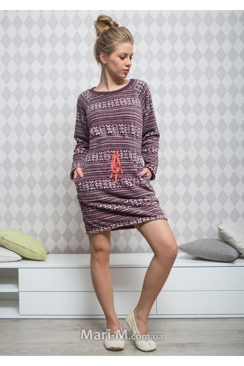 Домашняя рубашка женская KEY LHD-954 B5