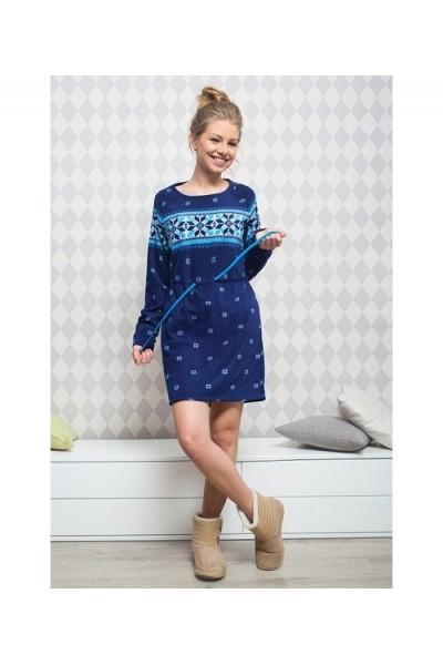 Домашняя рубашка женская KEY LHD-989 B5