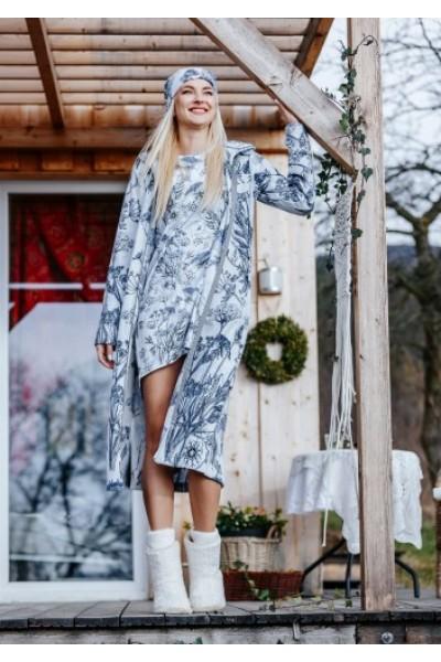 Домашний халат женский KEY LGL-597 B19
