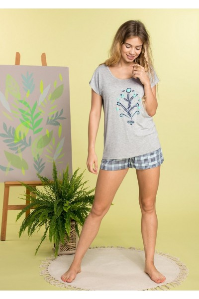 Пижама женская KEY LNS-470 1 A20