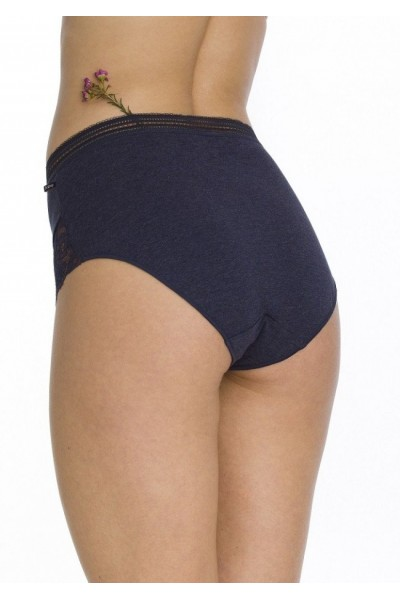 Трусы женские бикини с завышенной талией KEY LPF-248 B20 (2шт.)