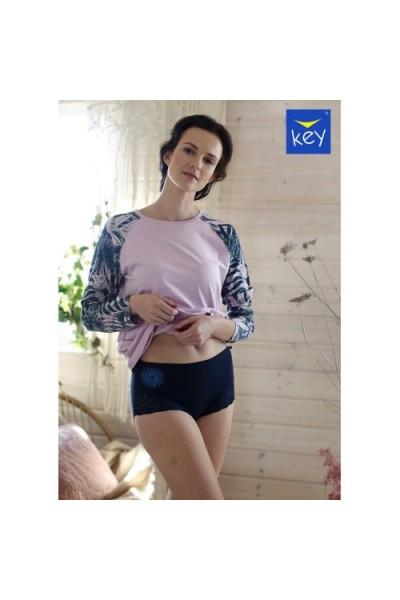 Трусы женские бикини с завышенной талией KEY LPF-099 B21 (2шт.) - LeConfort